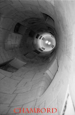 Escalier du château de Chambord.
