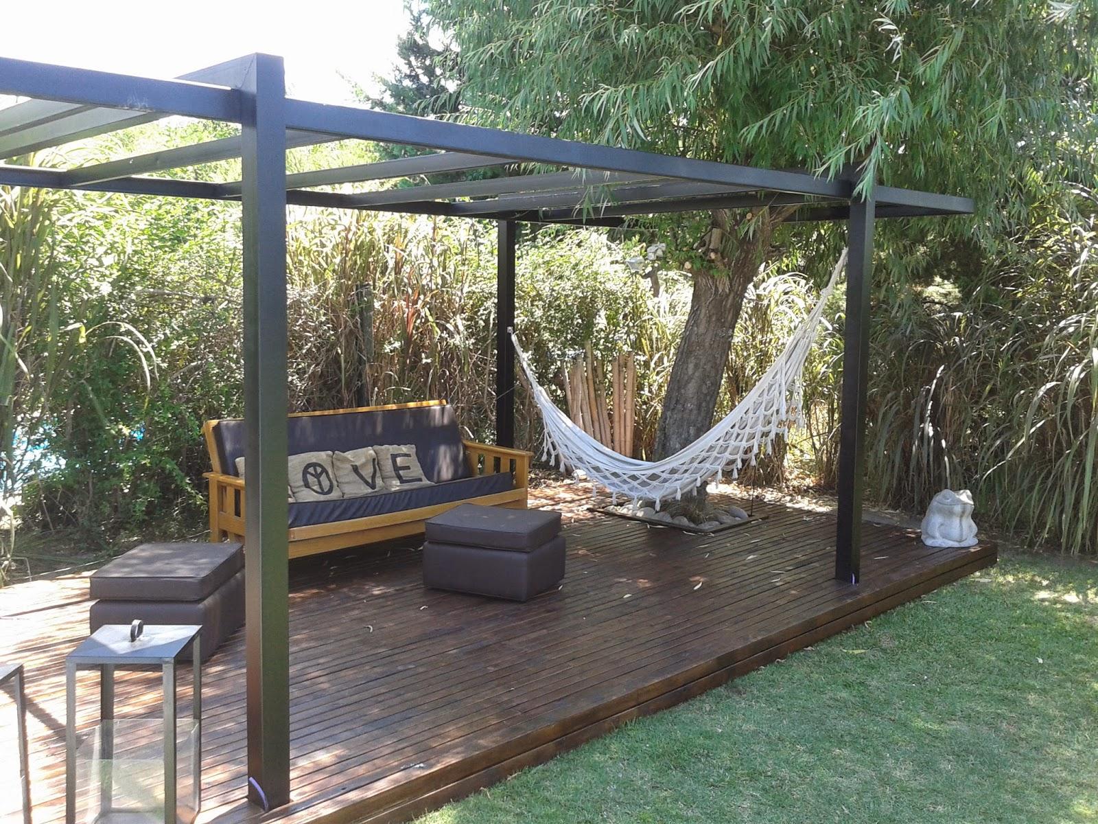 Zinka techos pergolas de madera y metalicas for Techos para patios exteriores