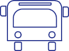 Drawing outline of public transportation bus