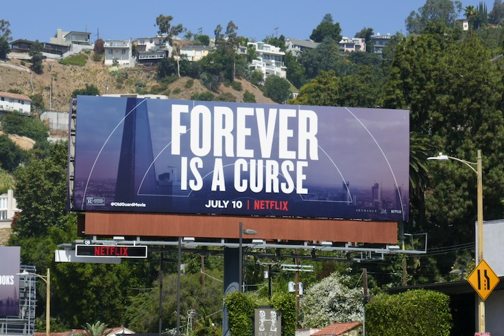 Old Guard Forever a curse billboard
