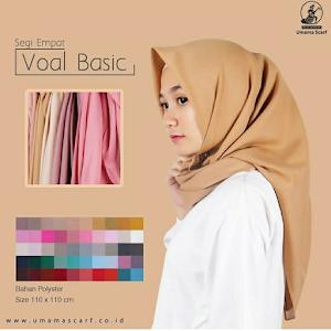 Hijab kerudung jilbab segi empat umama Basic Voal