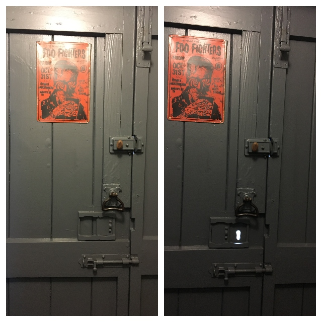 sliding keyhole cover
