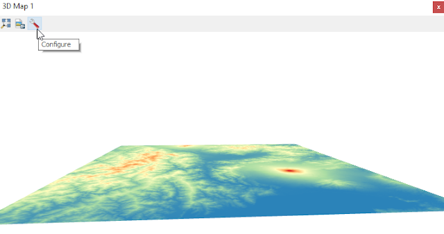 DEM Data in 3D View after rotation