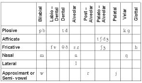ENGLISH CONSONANTS AND ENGLISH CONSONANT SOUNDS