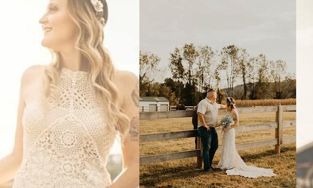 beautiful bride outdoors ranch weddings