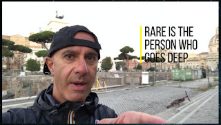 """Rare is the person who goes deep"" - Robin Sharma"