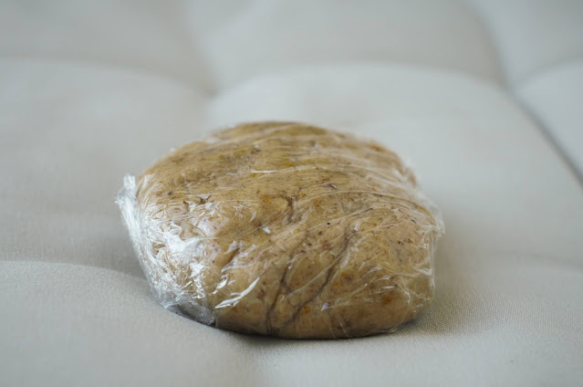 Shape the dough into a ball and wrap it in plastic film