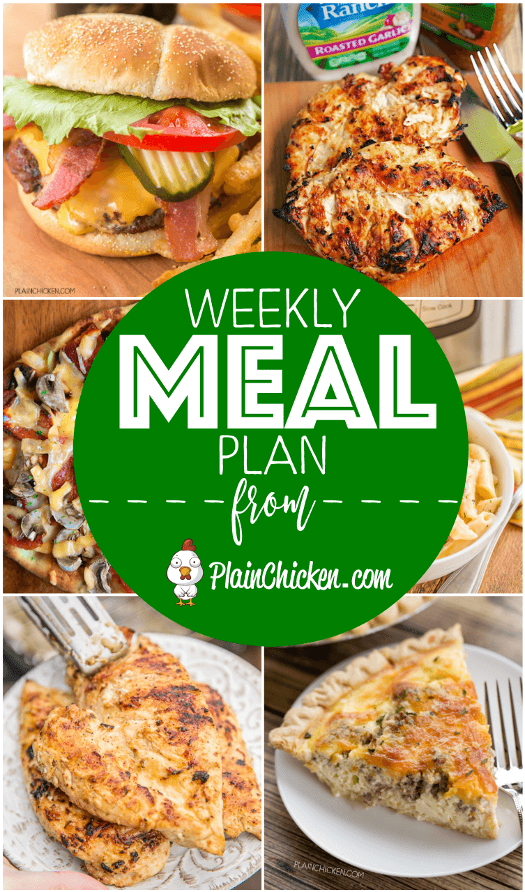 Whats for dinner weekly meal plan plain chicken weekly meal plan a quick and easy recipe for everyday of the week main forumfinder Gallery