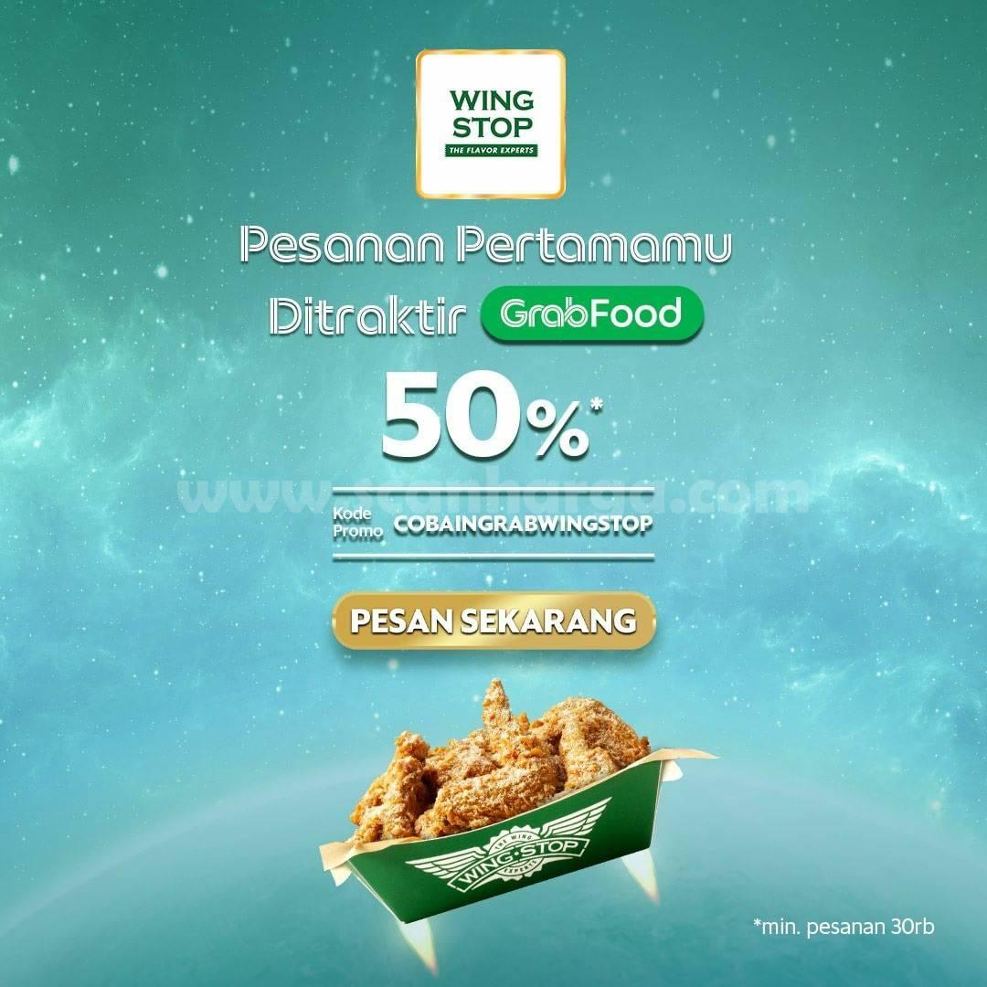 Promo WINGSTOP DISKON 50% via GRABFOOD