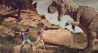 Dinosaur and Human