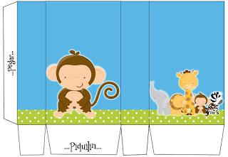 Cajas de Tiernos Bebés de la Selva para imprimir gratis.
