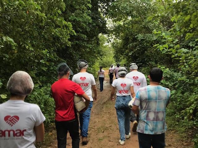 Projeto AMAR alcança Bom Princípio com distribuição de cestas básicas para famílias carentes.