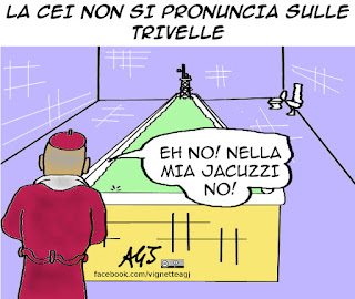 trivelle, referendum trivelle, cei, bagnasco, attico, vignetta, satira