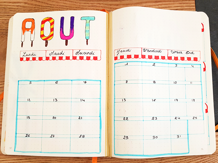 Bullet Journal Plan With Me Août 01 Blog Nimoise Nimes
