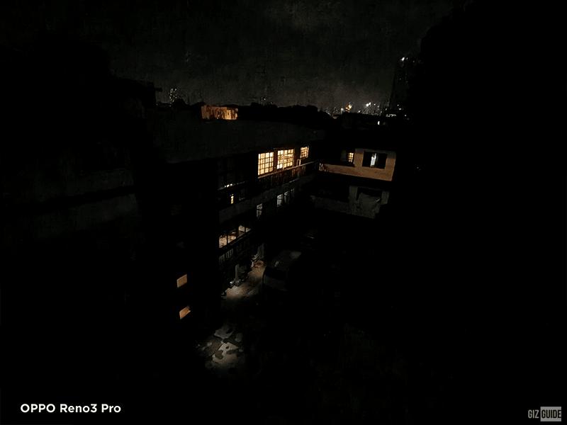 Rear camera ultra-wide night mode