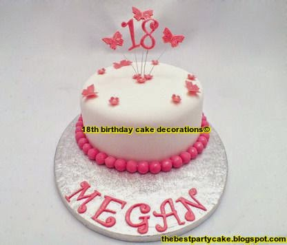 Creative Decorations Cake For 18th Birthday