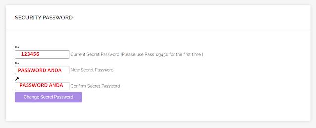 Cara Mendapatkan Secret Password Komunitiasia.com