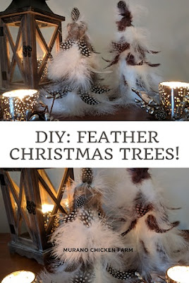 How to make a christmas tree from feathers.