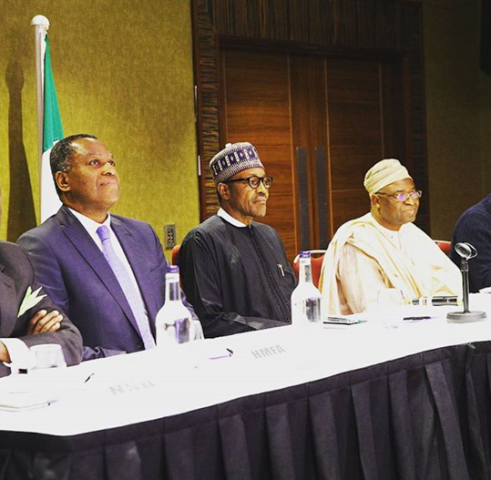 buhari meets Nigerian community in london