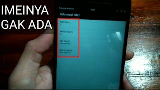 penyebab null imei pada smartphone