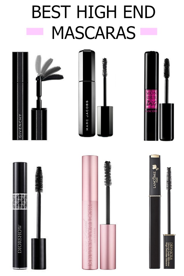 givency, mascara, designer mascara, high end mascara, lancome makeup, marc jacobs makeup, too faced mascara