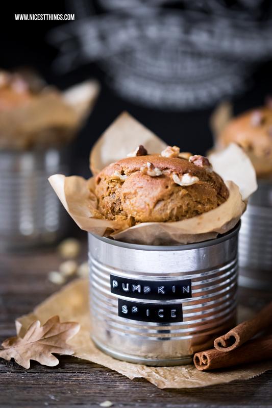 Kuchen aus der Dose: Pumpkin Spice Muffins mit Kichererbsen und Kürbis