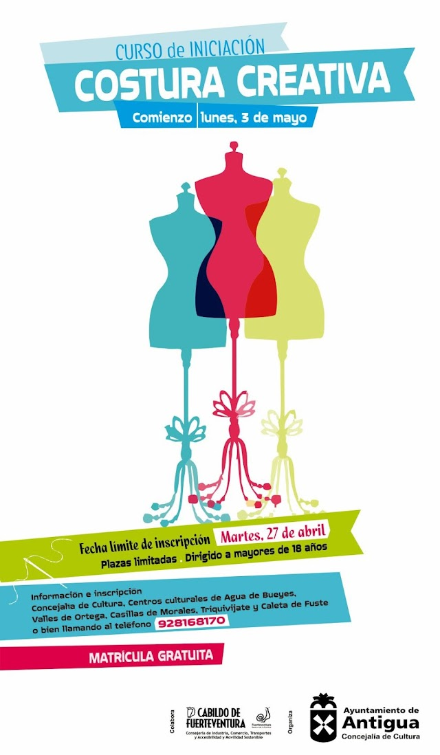 Fuerteventura.- Antigua ofrece un Curso gratuita de Iniciación a la Costura Creativa