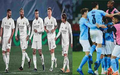 Berlaga Malam Ini, Klub Bola Man City, Real Mardid, Milan & Inter