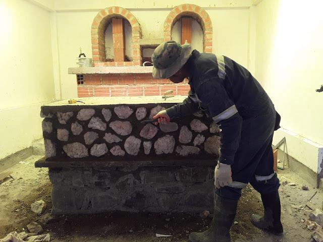 Der Altar in Zapatera entsteht