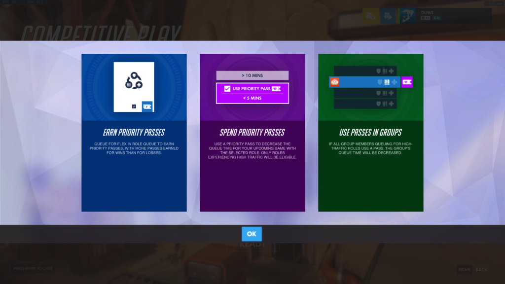 How to use a priority pass in Overwatch