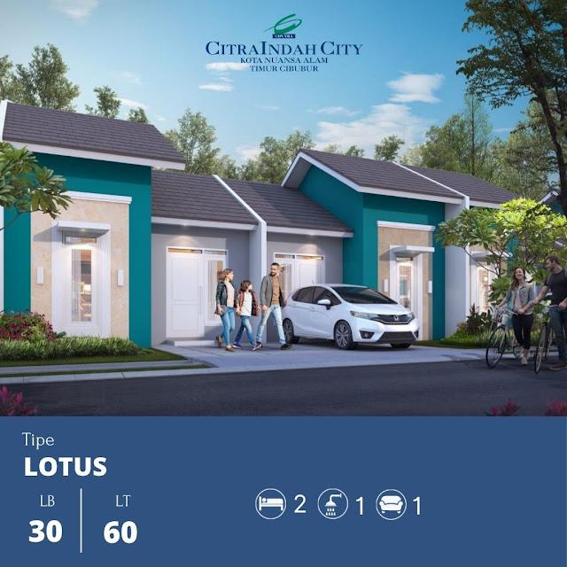 tipe Lotus 30/60 Citra Indah City