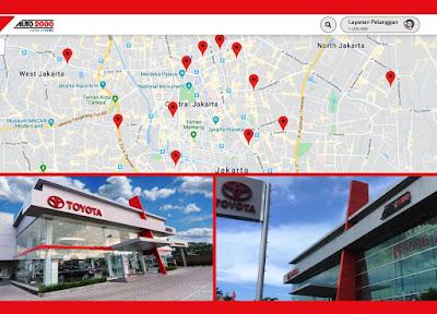lokasi dealer dan bengkel Toyota auto2000 terdekat di Jakarta