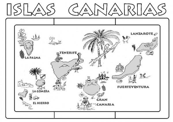 Dibujos de las islas Canarias para colorear