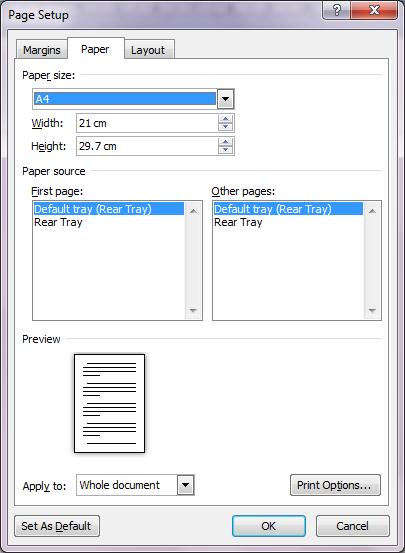 Cara Mengganti Ukuran Kertas Dari Letter ke A4 Secara Permanen di Word