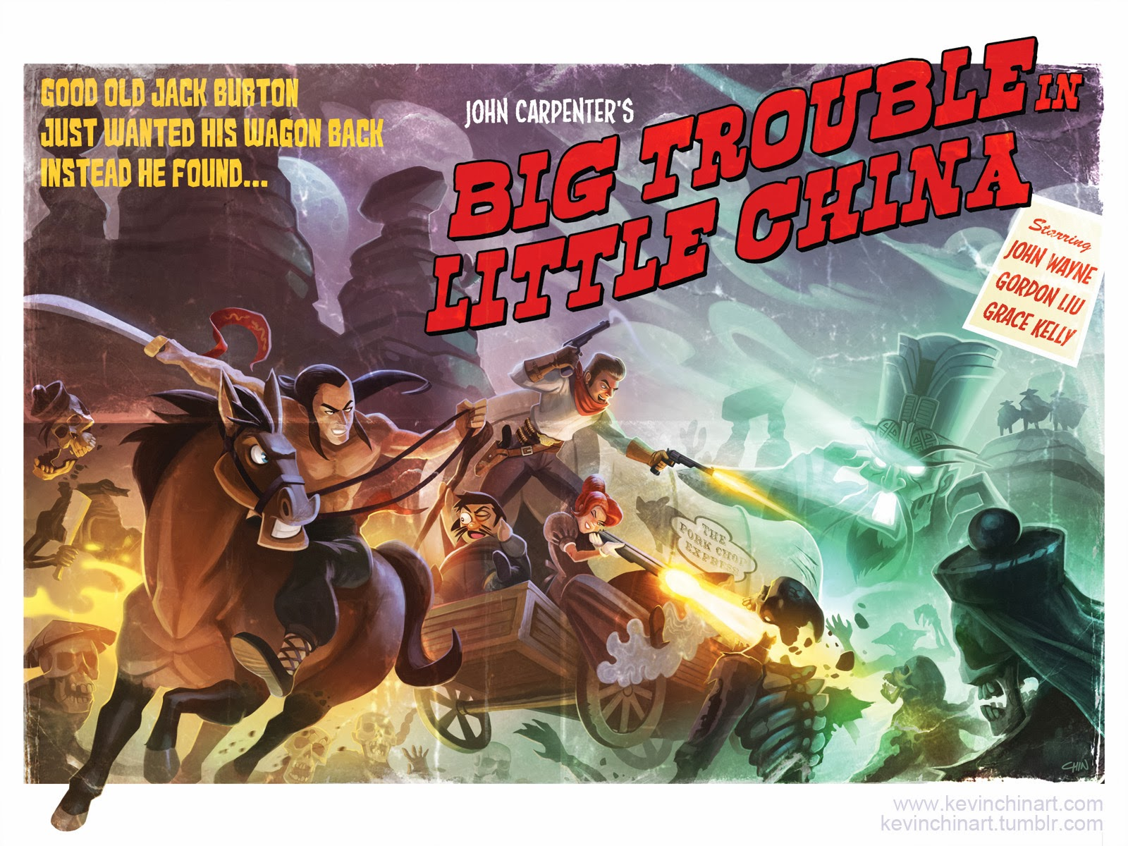 Kevin T Chin S Art Journal New Prints Big Trouble In Little China