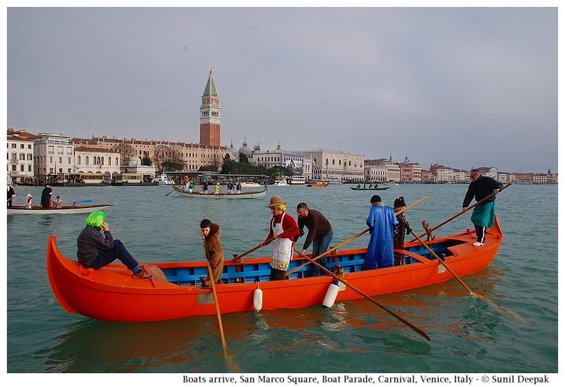 Boats arrive, near San Marco, Boat Parade, Carnival, Venice, Italy - © Sunil Deepak