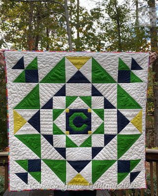 custom quilted baby quilt from rebecca grace quilting