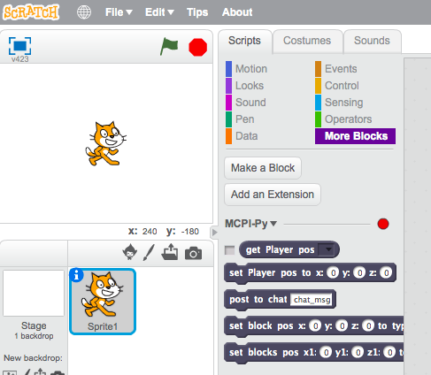 snowgum: Scratch, Minecraft and Raspberry Pi: how they fit together
