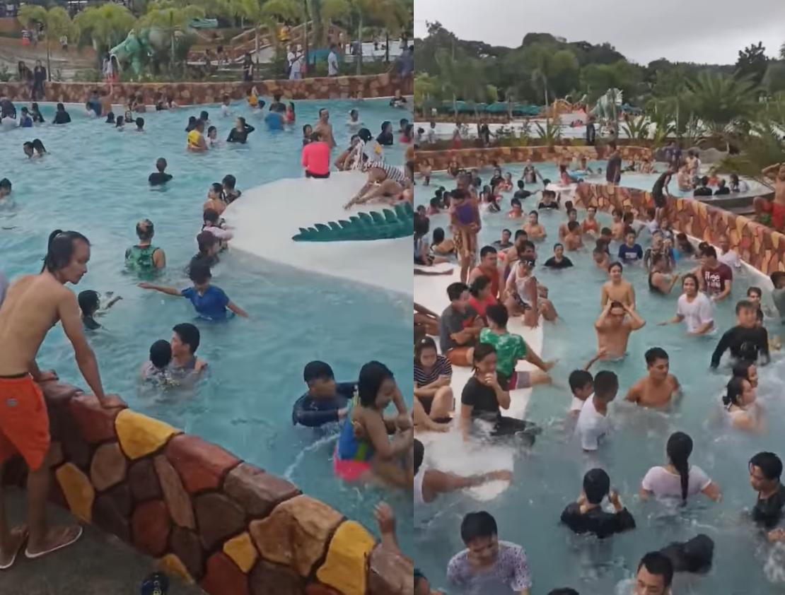Resort sa bulacan dinagsa ng turista at walang social distancing na pinatupad