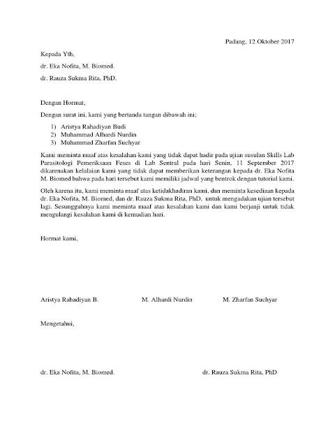 Contoh Surat Permohonan Maaf (via: suratresmi.net)