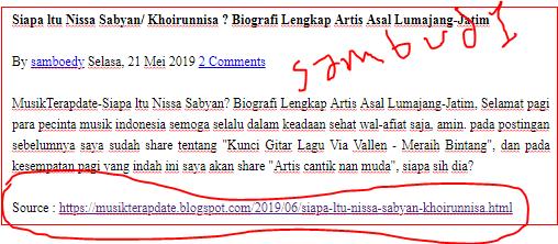 """Sambud1-Dunia blogging adalah dunia kreasi/ seni, dimana sang blogger berkreasi menulis artikel dan mendesine websitenya sebagus mungkin agar banyak pengunjung yang berkunjung kedalam blognya dan betah disana, Namun sebaliknya dalam blogging juga banyak yang men-copy paste artikel tanpa memberikan link sumbernya, sehingga yang punya artikel menjadi marah dan akhirnya melaporkan ke DMCA dan Google. Tak ada salahnya kita memposting sesuatu topik yang sudah ada di google, bahkan sudah populer, seperti """"Cara Mendftar Google Adsense"""", Di google kan sudah banyak yang posting, ratusan bahkan ribuan juta. Kita boleh memposting tentang itu asalkan dengan ide sendiri/ tulisan sendiri tak boleh hasil copas sepenuhnya. lalu bagaimana diserp google-nya? halaman pertama kah atau halaman terakhir? itu tergantung kualitas artikelnya, panjang artikelnya dan optimasi seo blog kita nya serta berapa banyak backlink pada blog kita.   Ok, kita lanjut saja ke """"Cara Membuat/ Memasang Link Artikel Saat Artikel Dicopas"""", Bagaimana caranya? sebelum saya shere caranya saya ingin memperlihatkan dulu gambar saat artikel kita dicopas, ini dia....    Nah seperti itu ya jadinya, MusikTerapdate adalah link sumber artikelnya, nanti link artikelnya muncul saat dicopas dan blog kita akan semakin populer, namun apabila dicopas lalu di posting kembali? nah itu sudah.....semoga saja yang posting ulang lupa menghapus link sumber otomatinya, sehingga pengunjung tahu bahwa artikelnya dapat nyolong, hehe  Baiklah kita langsung saja ke cara memasang link sumber artikel saat di coppy-paste.       Pertama, Sobat masuk ke blogger.com Kedua, Klik tema lalu klik edit HTML Ketiga, tekan Ctrl F (Bersamaan) pada keyboard PC anda nanti akan muncul kolam search (Lihat gambar diatas pada pojok kanan atas), lalu masukan kode html ini </body> jika sudah ketemu Copy dan pastekan script link otomatis ini tepat diatas kode tadi </body> (lihat contoh diatas)  <script type='text/javascript'> //<![CDATA[ !function(e,t){var n=""""ge"""