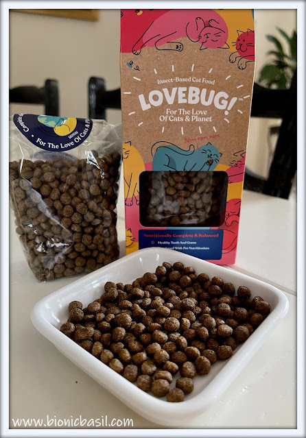 What's In The Box ©BionicBasil® Lovebug Insect-Based Cat Food - Kibble