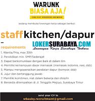 Open Recruitment at Warunk Biasa AJa Surabaya Timur Terbaru November 2019