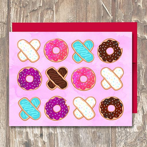 XOXO Donuts - Erin Clark - Inked in Red