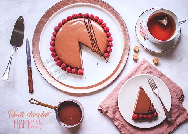 pâtisserie chocolat framboise