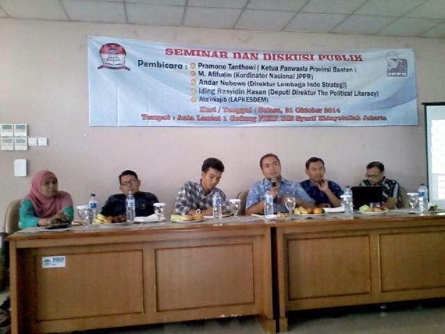 Seminar dan Diskusi Publik - Mempertahankan Pilkada langsung, Menguatkan Demokrasi