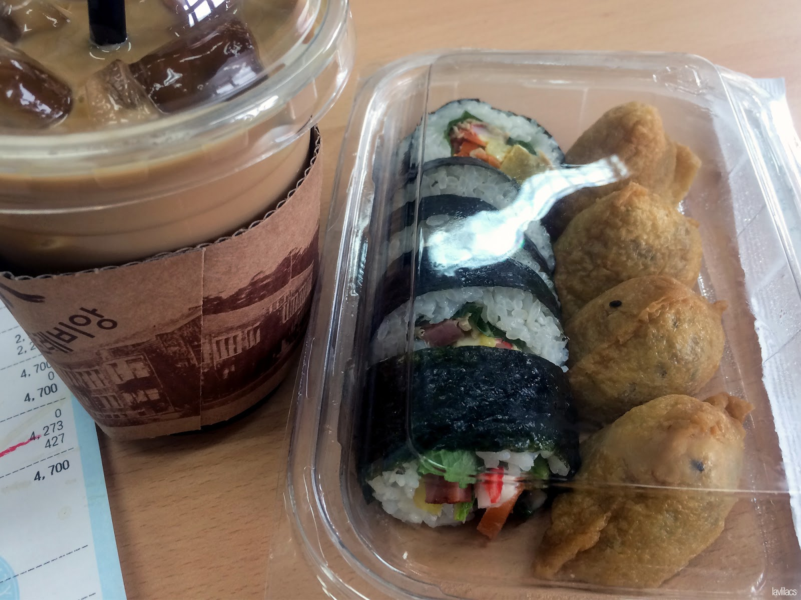 Seoul, Korea - Summer Study Abroad 2014 - Kimbap Coffee breakfast