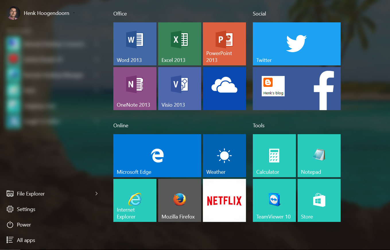 Henk S Blog Deploy A Customized Windows 10 Start Menu