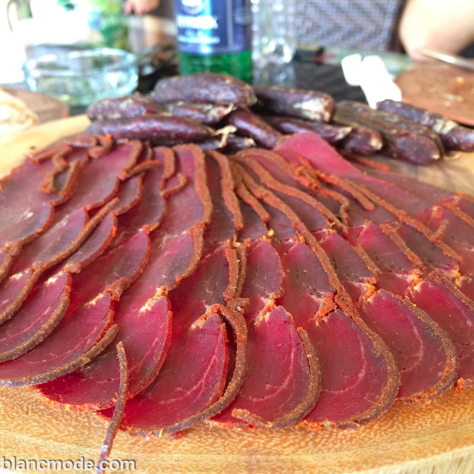 eating basterma in armenia