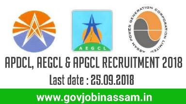 APDCL, AEGCL & APGCL Recruitment 2018, govjobinassam